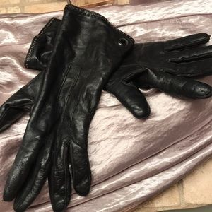 Coach leather gloves with cashmere lining